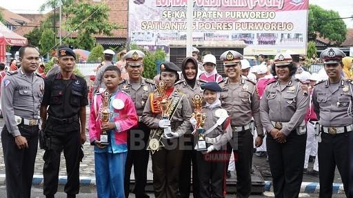 SDN Kutoarjo Juarai Lomba Polisi Cilik