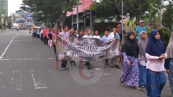 Jelang Ramadhan SMAN 1 Purworejo Gelar Pawai Ta'aruf