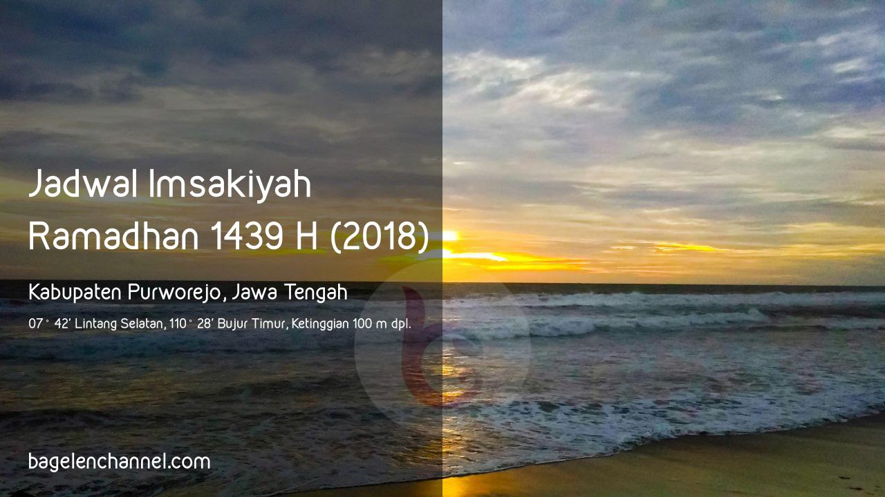 Jadwal Imsakiyah Ramadhan 1439 H Kabupaten Purworejo